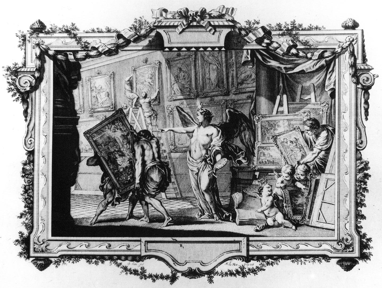 Carl Heinrich von Heinecken, Recueil d'estampes, Dresden 1757, Band 2, Frontispiz.
