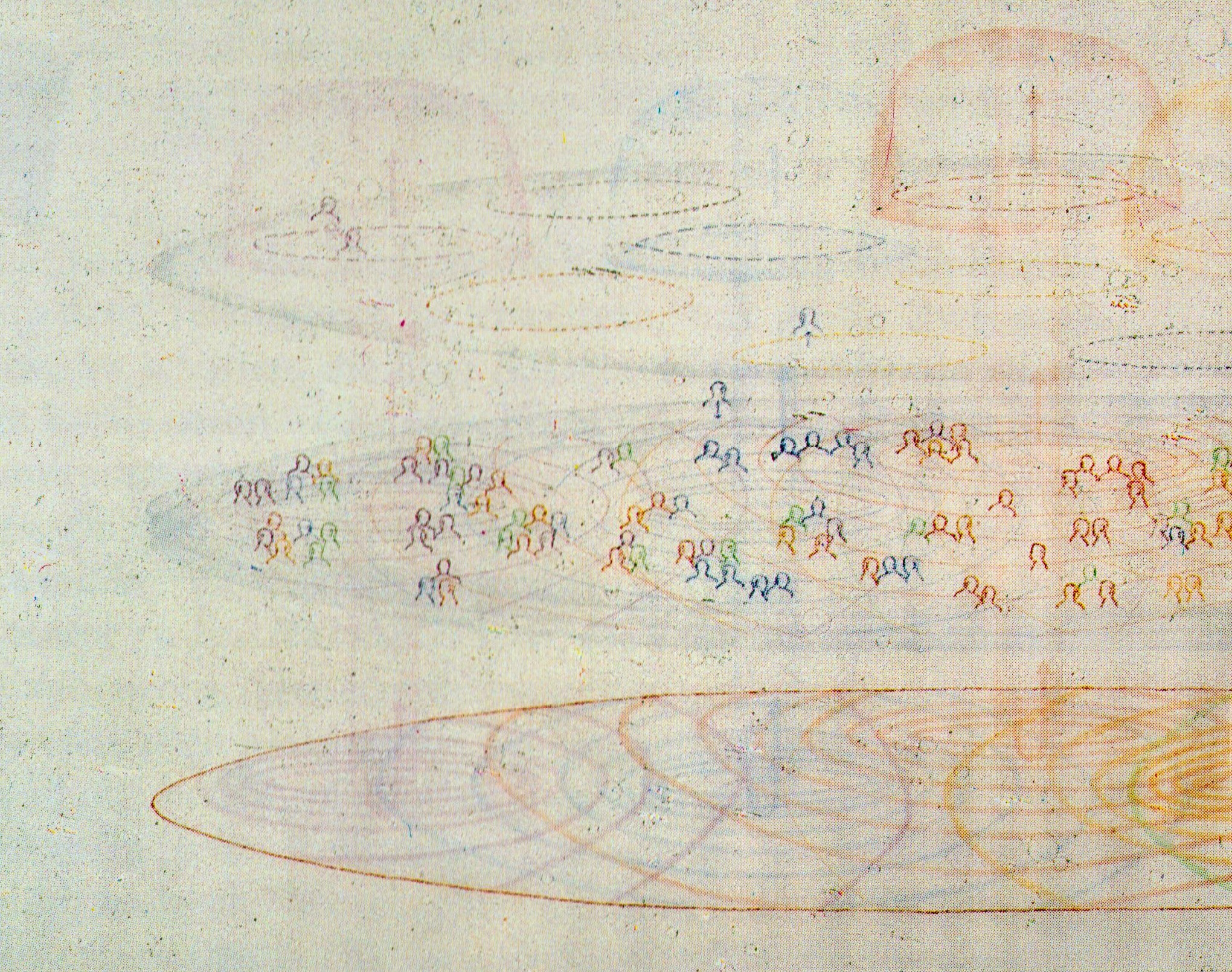 Max Neuhaus, Audium, 1980, detail, pencil on paper, 95,5 x 120 cm (© Estate Max Neuhaus)