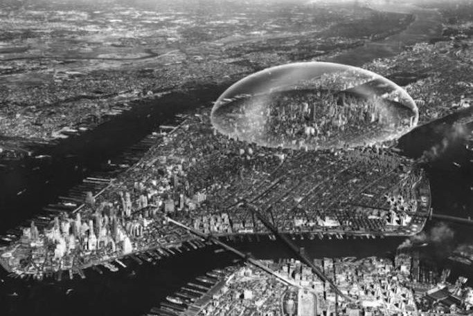 Richard Buckminster Fuller, Shoji Sadao, Dome over Manhattan, 1960