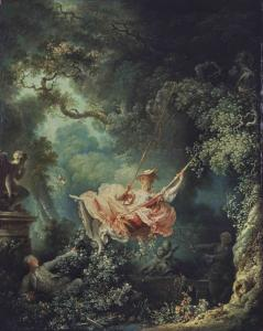 Photo: Jean-Honoré Fragonard, Les hasards heureux de l'escarpolette, 1767/1768, London, The Wallace Collection, @TheWallaceCollection