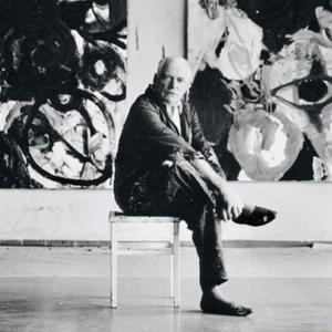Ernst Wilhelm Nay dans son atelier 1963 © Stefan Moses / Nay Archiv